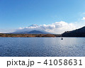 富士山 精進湖 晴れの写真 41058631