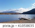 富士山 精進湖 晴れの写真 41058635