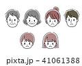 家族 表情 顔のイラスト 41061388