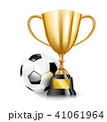 3D Golden trophy cups and Soccer ball 002 41061964