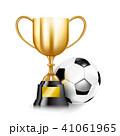 3D Golden trophy cups and Soccer ball 001 41061965