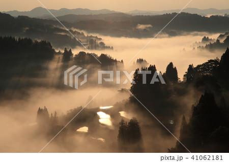 雲海と棚田 41062181