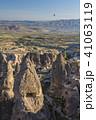 トルコ カッパドキア ウチヒサール 要塞からの朝の風景 41063119