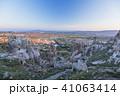 トルコ カッパドキア ウチヒサール 要塞からの朝の風景 41063414