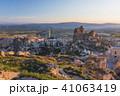 トルコ カッパドキア ウチヒサール 要塞からの朝の風景 41063419