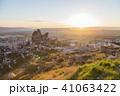 トルコ カッパドキア ウチヒサール 要塞からの日の出 41063422