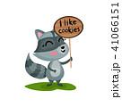 あらいぐま アライグマ ラクーンのイラスト 41066151