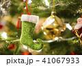 Christmas socks and decoration hanging on christma 41067933