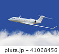 Private jet plane in the cloud with blue sky 41068456