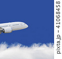 Airplane flying over blue sky and white cloud 41068458