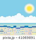 街並み 海 太陽のイラスト 41069891