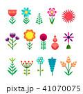 フラワー 花 シンプルのイラスト 41070075