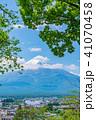 富士山 初夏 新緑の写真 41070458