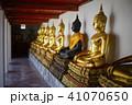 Buddha statues in a row at Wat Pho, Bangkok Thaila 41070650