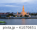 Thai temple view from Chaophraya river 41070651