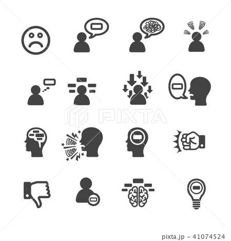 negative thinking icon 41074524