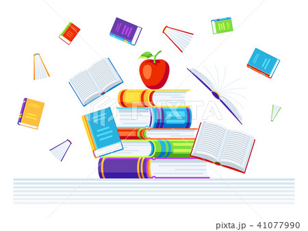 Background with books. 41077990