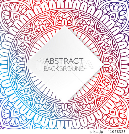 luxry vibrant mandala template background のイラスト素材 41078323
