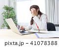 ビジネスウーマン ビジネス デスクワークの写真 41078388