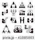 ビジネス アイコン チームワークのイラスト 41085003