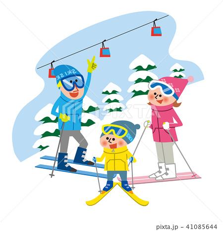 家族でスキー 41085644