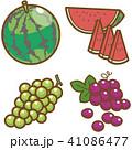 フルーツ(すいか、ぶどう) 41086477