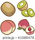 フルーツ(キウイ、桃) 41086478