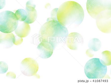 水彩 テクスチャー 虹色 シャボン玉 41087493