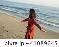 人物 女性 海岸の写真 41089645
