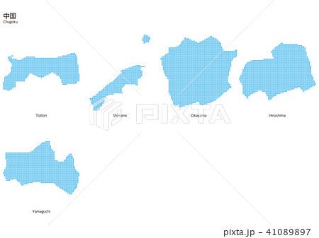 ベクター イラスト デザイン 地図 マップ 日本 中国 ドット 41089897