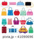 女性 ハンドバッグ 手提げのイラスト 41090696