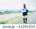 高校生 河川敷 女の子の写真 41091034