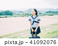高校生 女子 学生の写真 41092076