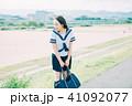 高校生 女子 学生の写真 41092077