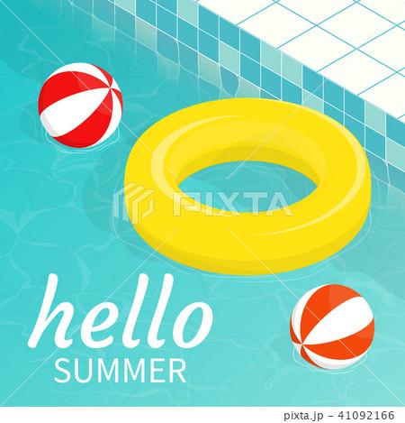 hello summer isometric pool float Beach ball   41092166