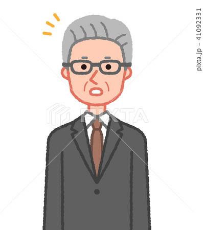 スーツ 気付くシニア男性 41092331