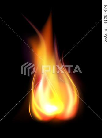 Realistic burning flame translucent element 41094474