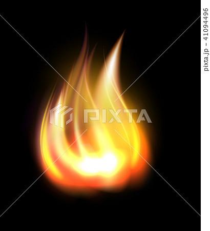 Realistic burning fire element 41094496