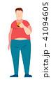 太い 食 料理のイラスト 41094605