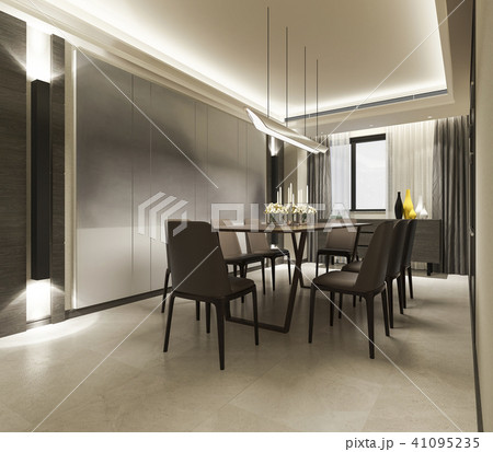 Modern Dining Room With Luxury Decor