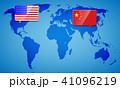 アメリカ チャイナ 中国のイラスト 41096219