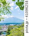 富士山 初夏 新緑の写真 41096258