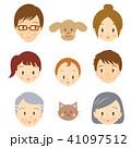 3世代家族 フェイスアイコン 平常時 家族タイプA 41097512