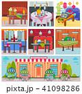 飲食店 装飾 飾りのイラスト 41098286