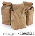 Brown paper food bag packaging 41098381