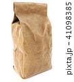 Brown paper food bag packaging 41098385