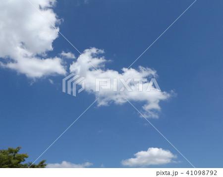 夏の青空に白い雲 41098792
