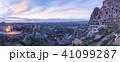 トルコ カッパドキア ウチヒサールの要塞の夕景 41099287