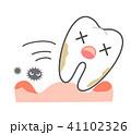 歯周病と歯茎の炎症 抜けていく歯キャラクター 41102326