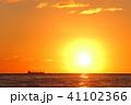 夕焼け 夕日 日本海の写真 41102366
